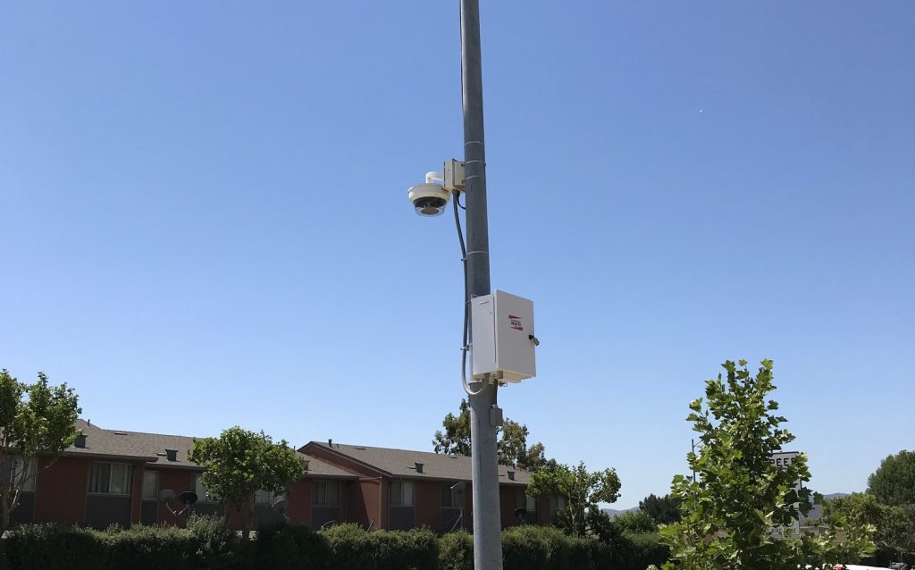 Attached 1. Hanwha Techwin's Wisenet 'PNM-9081VQ' multi-sensor cameras installed throughout King City, California