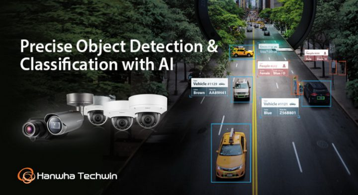Hanwha Techwin launches Wisenet P series AI cameras which detect and classify people and vehicles and accurately capture the unique attributes of objects